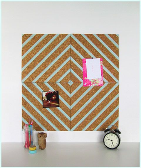 bulletin board, have the cork board at school already this is a great way to jazz them up!