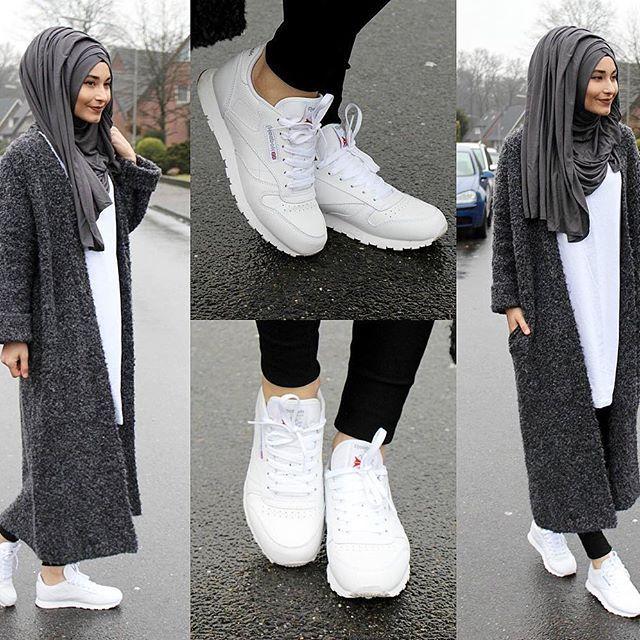Cardigan - Bershka Shirt - Zara Shoes / Schuhe / Ayakkabilar - Reebok Classic