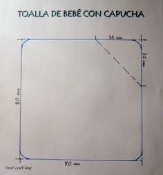 TresP craft blog: PATRÓN Y TUTORIAL DE TOALLA CON CAPUCHA PARA BEBÉ                                                                                                                                                      Más