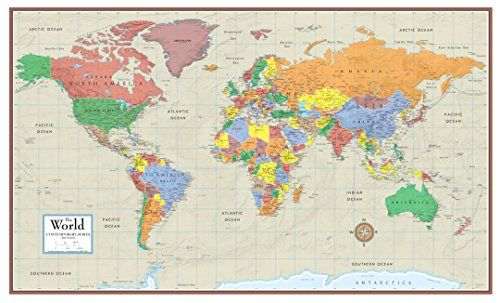 17 best images about wall murals on pinterest wall maps for Environmental graphics giant world map wall mural