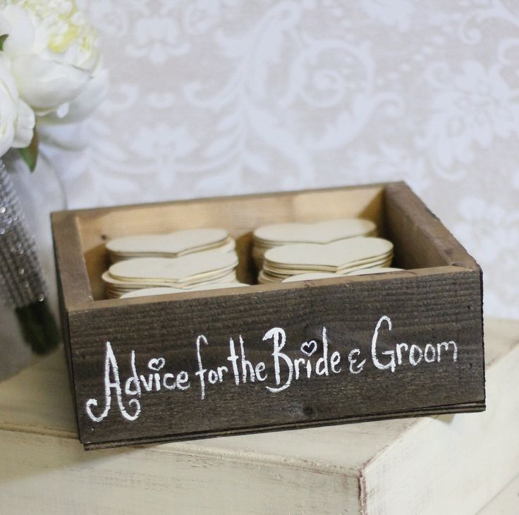Cute rustic guest book box from Etsy.  Cute at shower.
