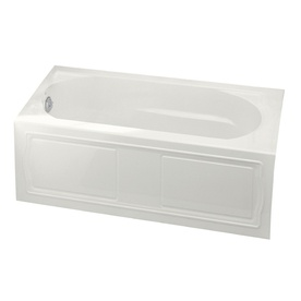 Nice Shop KOHLER Devonshire White Acrylic Oval In Rectangle Alcove Bathtub With  Left Hand Drain (Common: X Actual
