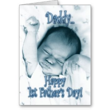 Perfect Father's Day card from a newborn/baby boy to his daddy. The inside verse is my original poem which can be kept as is, or personalized by you for that added touch. #first #father's #day #happy #father's #day #dad #daddy #baby #cute #adorable #sweet #from #son #newborn