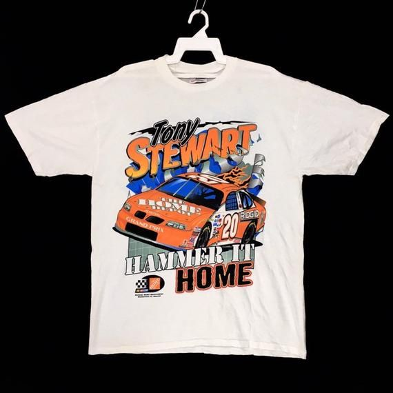 Vintage Nascar Tony Stewart T Shirt Nascar T Shirts Nascar Shirts Shirt Design Inspiration