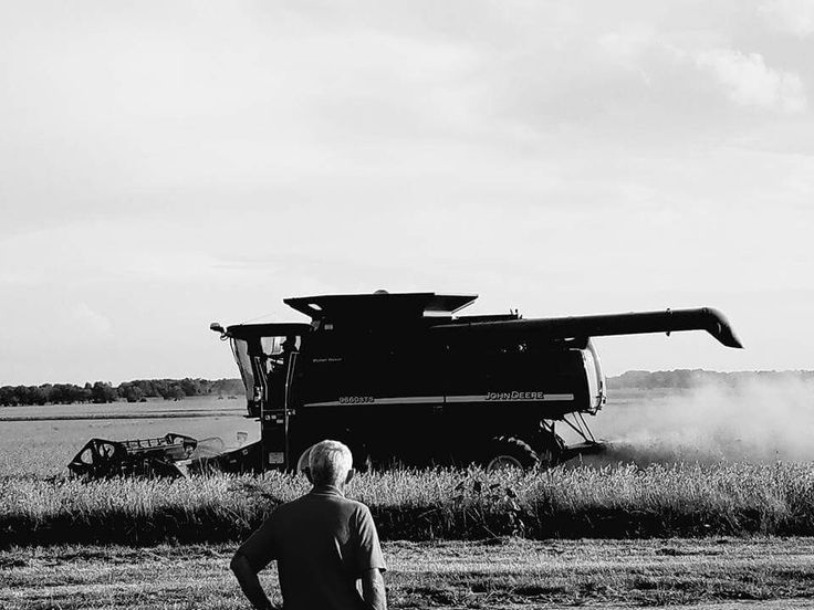 A rustic looking picture of Kenny Shupe on the first day of his 55th harvest.