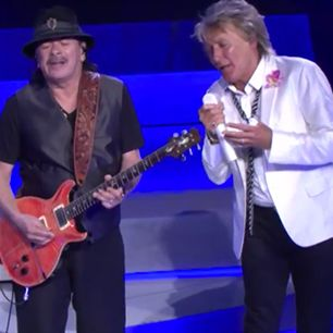 Watch Carlos Santana and Rod Stewart Play Together for the First Time