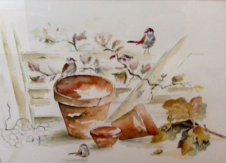 Painting made with watercolors