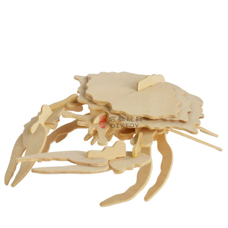Crab----Woodcraft Construction Kit Kid Wooden Building Puzzle Model Game