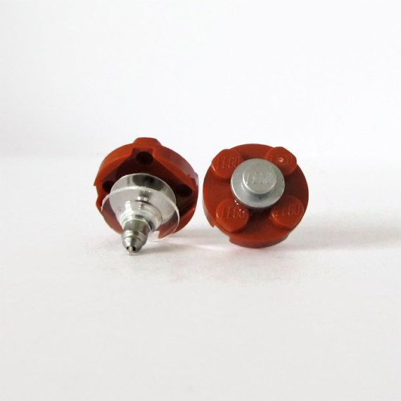 Funny Earrings-Cheap Earrings Set-From LEGO® Bricks-Flower Earring-Women's Earrings-Different Earrings-Stud Εarrings Gift-Playful Earrings