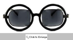 Suri Square on Round Sunglasses - 474 Black