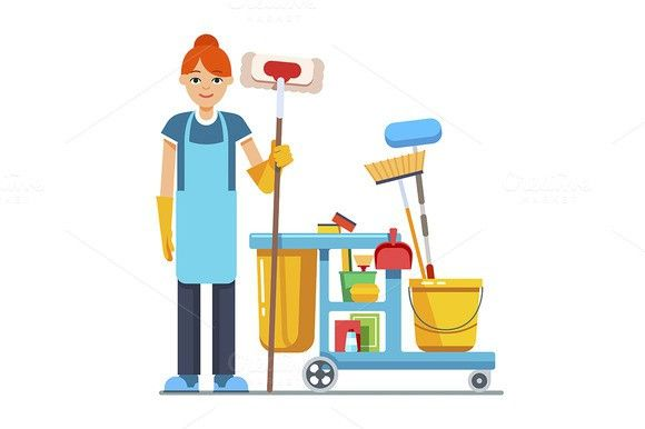 Professional Cleaner Woman House Cleaning Services