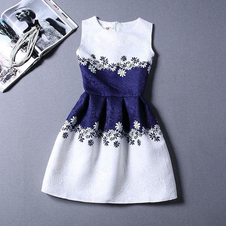 Sleeveless Printed Summer Styles Sundress - Ashlays - 15