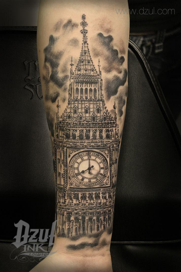 Best Architecture Tattoo - Big Ben Tattoo Best black and ...