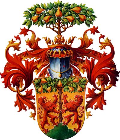 The coat of arms of the Saxon city of Pirna, Germany. (Wikipedia)