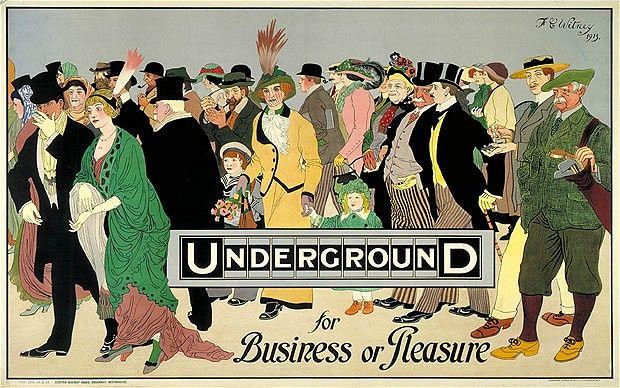 beautiful historic London Underground poster