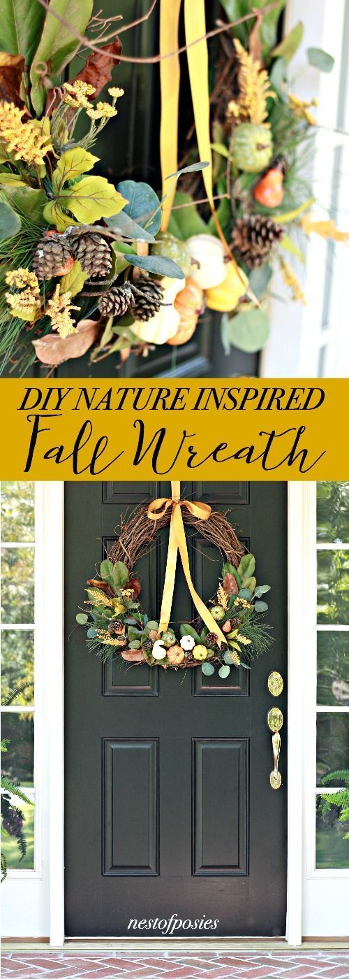 DIY Nature Inspired Fall Wreath 802 best