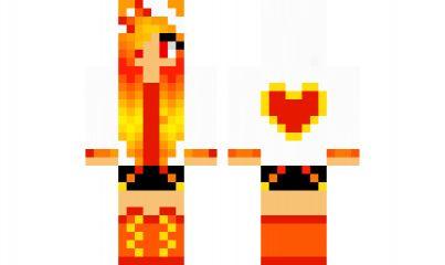 minecraft skin Fire-Cat-Girl