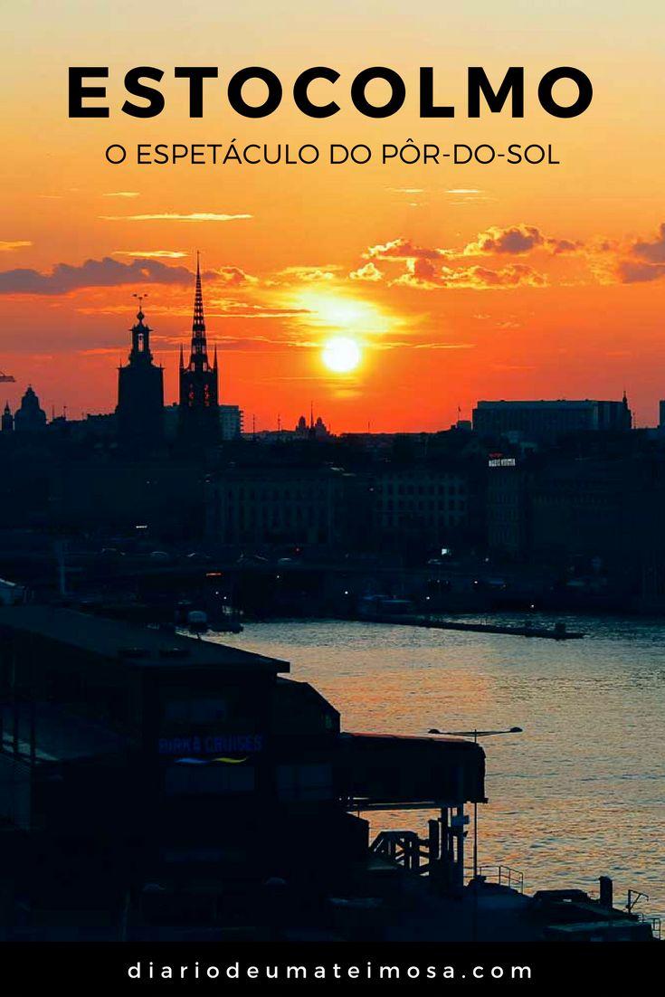 O espetáculo do pôr-do-sol em diferentes épocas do ano em Estocolmo