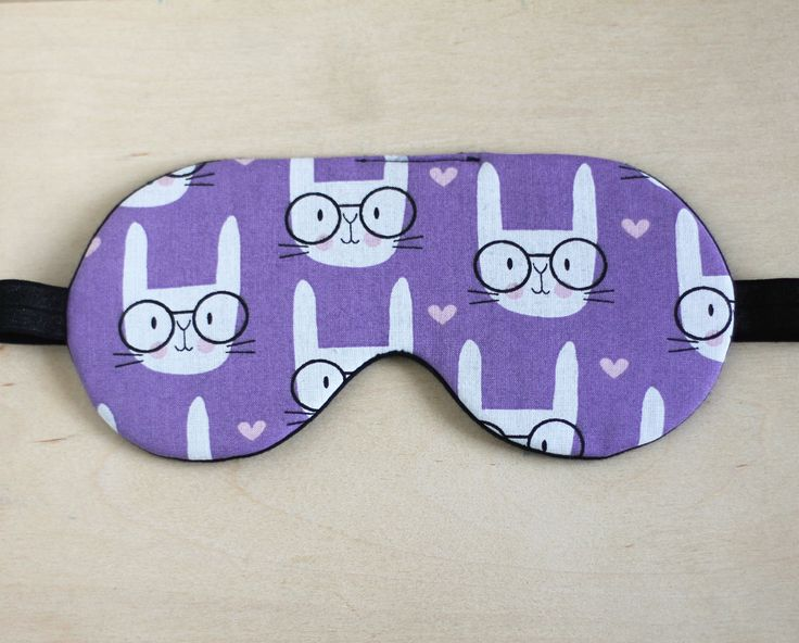 Cute Sleep Mask, Bunny travel mask, Rabbit Lover Gift, Travel gift for Her, Kids Eye Mask, Lilac Gift for Her, Christmas Gift, Sleeping Mask by happygiftsUA on Etsy