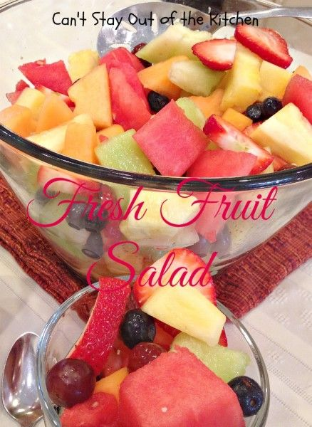 Fresh Fruit Salad - let kids, pick, wash and cut up fresh fruit to make their own fruit salad!
