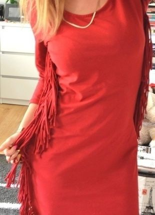 Kup mój przedmiot na #vintedpl http://www.vinted.pl/damska-odziez/krotkie-sukienki/10485839-bordowo-czerwona-sukienka-fredzle-moda