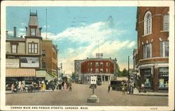 central st. Gardner ma 1800's | ... parker streets gardner massachusetts ma white border pm 1931 jan 02