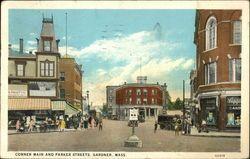central st. Gardner ma 1800's | ... parker streets gardner massachusetts ma white border pm 1931 jan 02