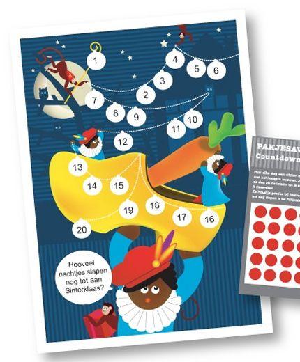 Sinterklaas aftelkaart