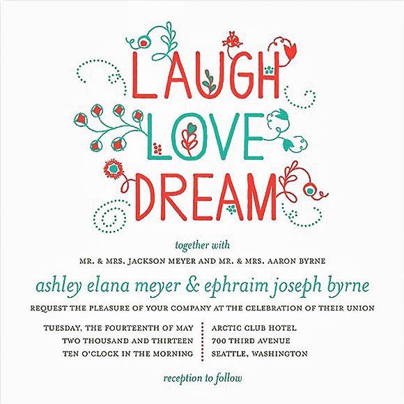 45 Wedding Invitation Designs That Reflect The Style Of Your Event ~ These are fantastic!