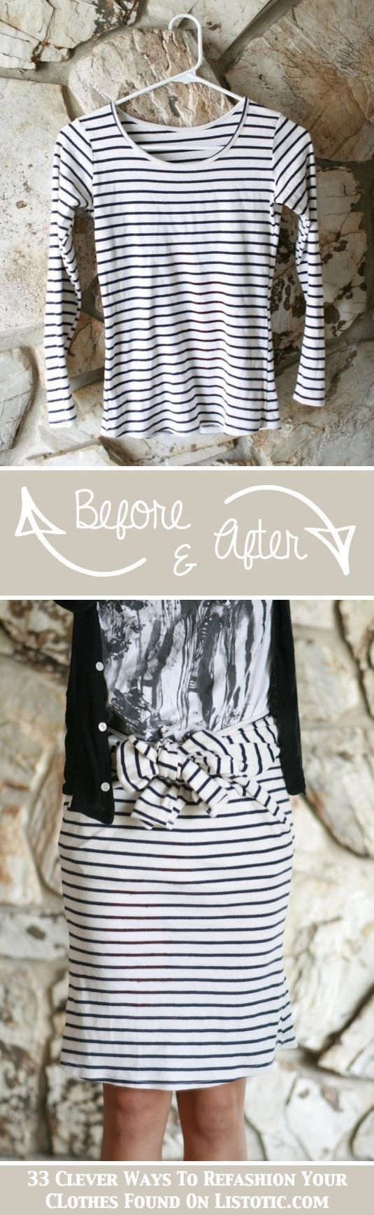 33 Clever Ways To Refashion Your Clothes ... a lot of these are no-sew!/ this is for my Devon!!!
