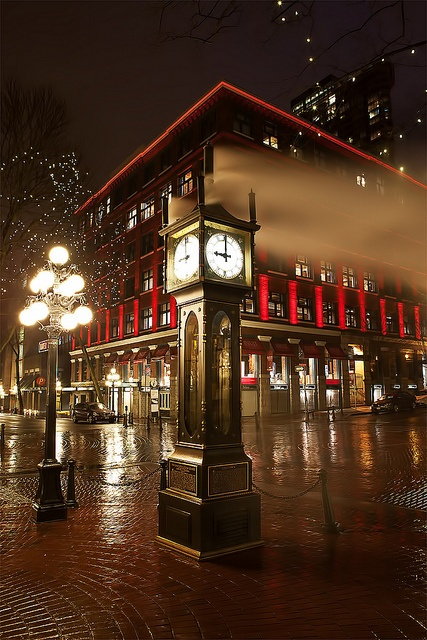 Historic steam clock. Gastown. Vancouver.