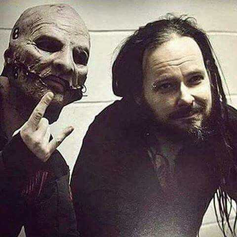 Cory (slipknot) with Jon. (Korn)