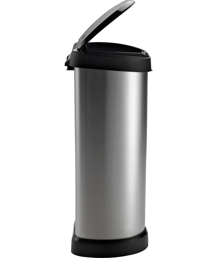 Buy Curver 40 Litre Deco Touch Top Kitchen Bin - Silver at Argos.co.uk - Your Online Shop for Kitchen bins.