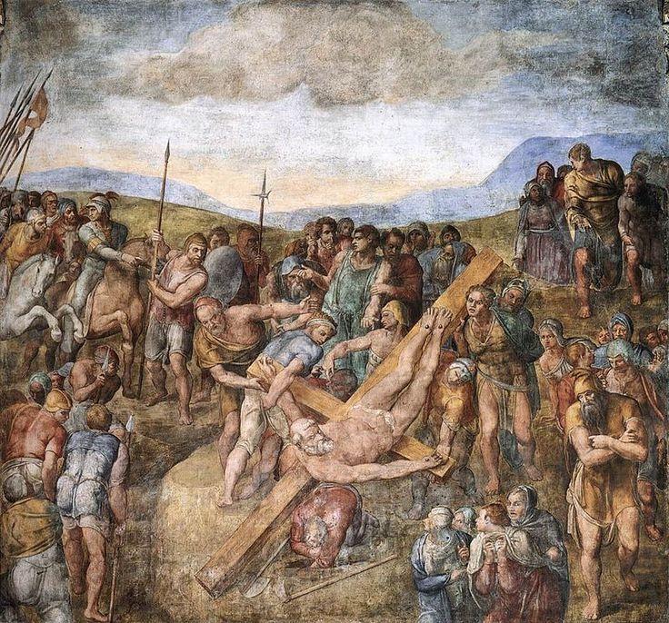 El martiri de Sant Pau. Miquel Àngel. 1548. Capella Paulina