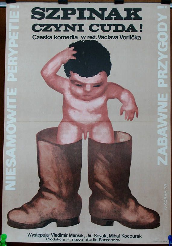 Poster. Polish original poster for the Czechoslovak 1977