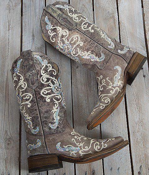 Corral Sequin Square Toe Cowboy Boot $239.00 Item #23226A2932
