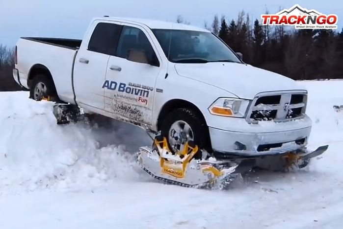 Track N Go – Wheel Driven Track System The Track N Go system is primarily developed for use on snow, but can also be used on the road.