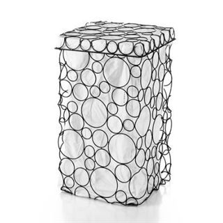 check out the ws bath collections complements sesti circles burnished metal laundry basket with lid