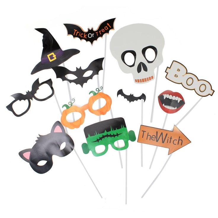 Halloween Photo Booth Props 12 Pack