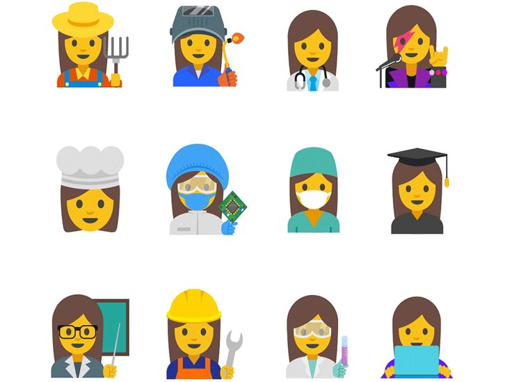 Google is rolling out 13 new emojis for WOMEN aimed at promoting gender equality at work