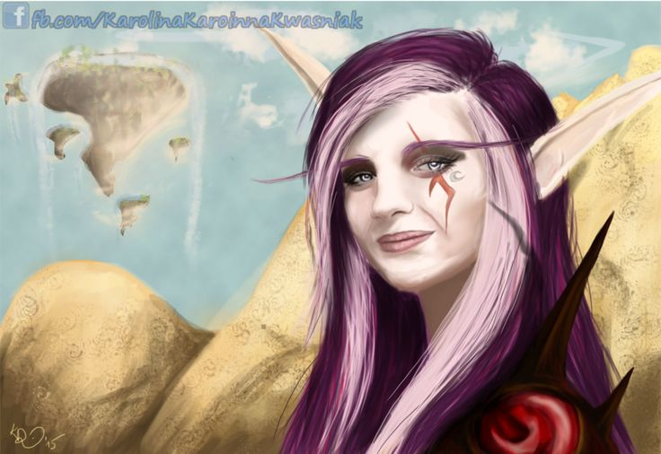 Karoinna Nightrunner :) Self-portrait as a Night Elf rogue ;)