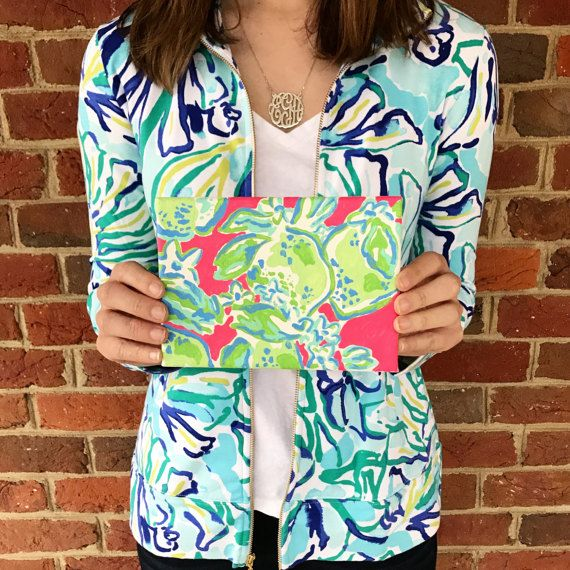 Pink Lemonade Lilly Pulitzer Inspired 7 x by SweetTeaMagnoliaTree