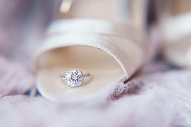Romantic Purple & Blush Styled Shoot, Winter Springs, FL, engagement ring, diamond wedding ring, diamond wedding band, solitaire engagement ring, big diamond ring, see more on borrowedandblue.com // Aurora Creative