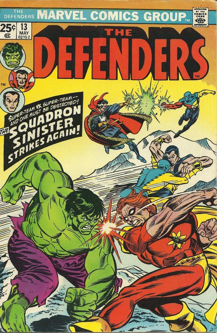Defenders; Vol 1, 13 Bronze Age Comic Book. VF-. May 1974. Marvel Comics