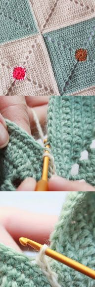 Crochet Zipper Join : + images about Crochet Squares on Pinterest Granny Squares, Crochet ...