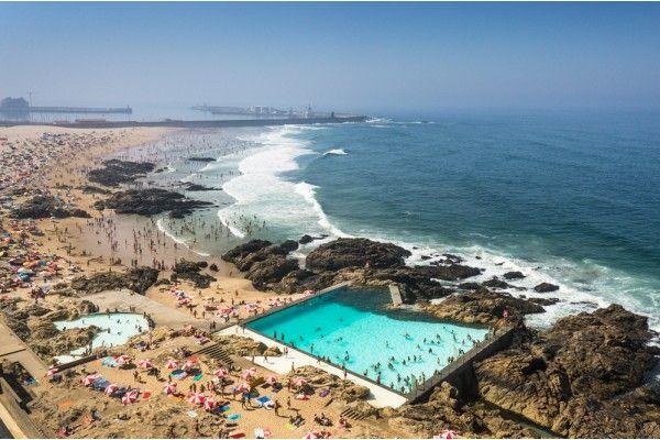 Alvaro Siza Vieira - Swimming Pools in Leça da Palmeira Aerial Photography - Joao Morgado