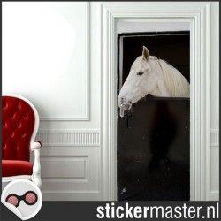 Deursticker paard staldeur