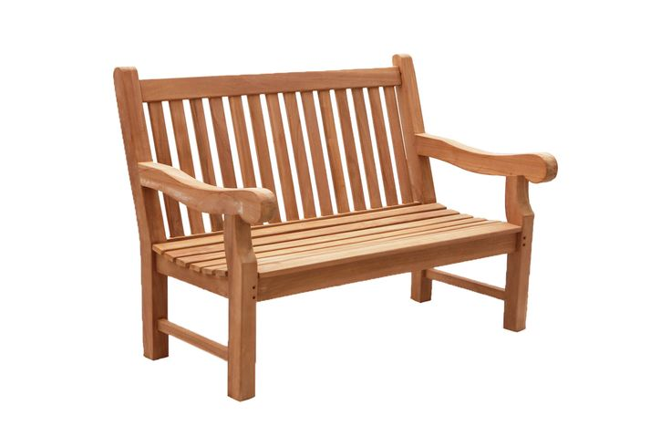 Teak outdoor furniture - President bench comes in 120cm, 150cm and 180cm