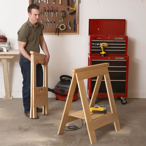 Sawhorses Woodworking Plan, Shop Project Plan | WOOD Store