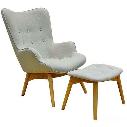 Grant Featherston Chair and Ottoman - Cashmere - Replica